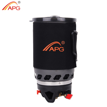 APG Outdoor Portable Cooking System Hiking Camping Stove Heat Exchanger Pot Propane Gas Burners(China)