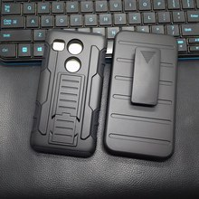 2017 New Man Style Armor Belt Clip Back Phone Cover Case For LG Google Nexus 5X H790 H791 H798 High Quality Hard Cell Phone Case