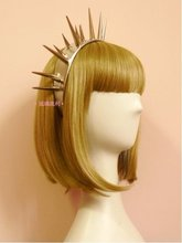 Custom Made Lady Gaga Same Cool Punk Style Overlength Rivet Leather Hairband T Stage Hottest Headband Night Club Hair Accessory