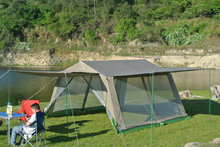 New arrival high qualty double layer ultralarge 8/10/14 person camping tent party tent gazebo
