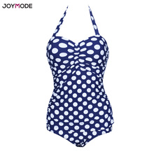Buy JOYMODE Sexy Women Swimsuit One Piece Monokini Bathing Suit Polka Underwire Swimwear Halter Bikini Push Suit Plus Size 4XL