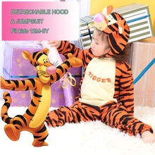 Genuine Deluxe Infant Kids Tiger Cartoon Character Cosplay Clothing Child Halloween Party Fancy Costumes