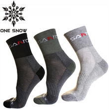 ONE SNOW 3 Pair/Lot Sport Scoks Coolmax Thermo Socks Men Quick Dry Outdoor Ski Camping Running Socks Male Winter Hiking Socks