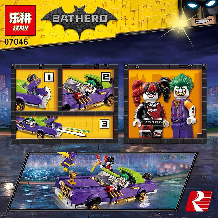 New 433Pcs Lepin 07046 Genuine Batman Movie Series The Joker`s Lowrider Set Building Blocks Bricks <br><br>Aliexpress