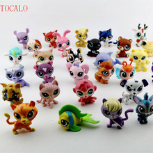 5-6cm 10pcs/lot Lovely Pet shop Animal Bigger Collection LPS Action Figure Cat Kitty With Opp Bag(China)