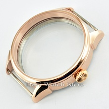 42mm Steel Rose Gold Fit ETA 6497/6498,Seagull ST36 Movement Watch Case