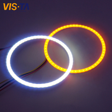Super Bright Auto Halo Rings SMD COB Angel Eye Car Headlight Motorcycle White Yellow with Turn Signals Car Turning Lights