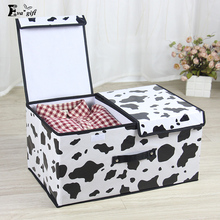 Double cover large capacity storage box Container Separate Middle separation Closet Boxes organizer Clothing Ties Socks folding