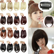 Fashion Front Neat Fringe Bangs Clip in Hair Extension One Piece Natural Synthetic Bang Hairpiece Hair Piece For Vogue OL Girls