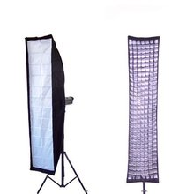 35x160cm Strip Photography Soft Box Tank 40Degree Egg Crate Grid Speedring for Bowens Flash Light Studio Photo softbox(China)