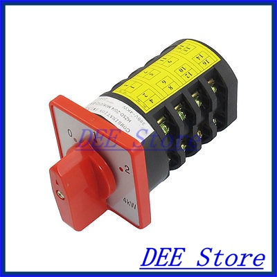 AC 380V 20A Self Locking 0-1-2 3 Position Cam Combination Changeover Switch<br><br>Aliexpress
