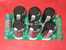 High-end dual power rectifier filter 2 roads outputs with fuse power amplifier board 6*10000UF/63V