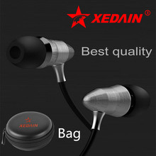 XEDAIN X8 3.5MM sport Earphones Super Bass metal Head phone hifi running headsets stereo earbuds for iphone4/5/6 Samsung MP3 MP4(China)