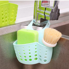 Kitchen Sink Sponge Storage Hanging Basket Adjustable Snap Button Type Drain Rack Faucet Storage Bag(China)