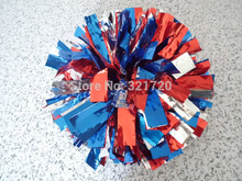 New Cheerleader Dancing Pompoms (10 pieces/lot) Mixed Color Cheerleading Metallic Pom Poms Color and handle can choose