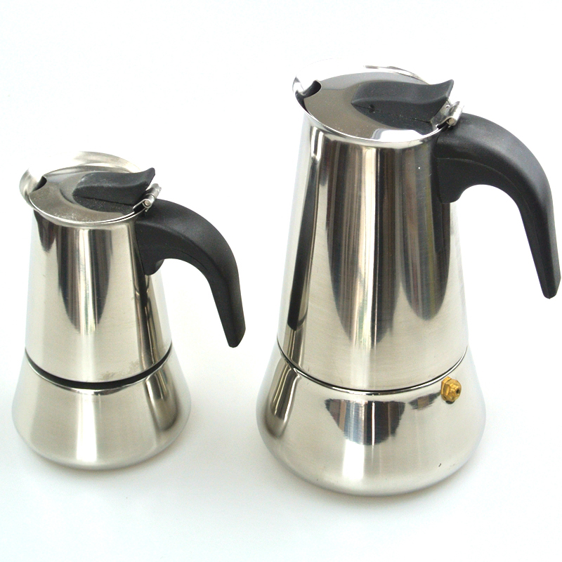Top Quality Hot Sale 2/4/6 Cup Stainless Steel Moka Espre sso Latte Percolator Stove Top Coffee Maker Pot<br>
