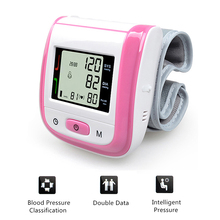 Pink Color! Automatic Digital Wrist Blood Pressure Monitor Meter Cuff Blood Pressure Measurement Health Monitor Sphygmomanometer(China)