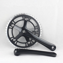 Bicycle cranksets Cycling Bike Single speed bicycle crank 48T*170mm crankset cycle multicolor cnc Bicycle Crank & Chainwheel