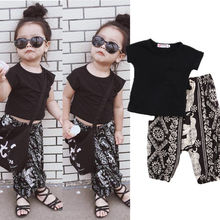 Kids Baby Girls Clothes Tops T-shirt Pants Harem Casual Fashion Outfits Set Summer Clothing Age 2-7Y(China)