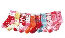 10pair/lot Baby stocki strawberry lace princess socks Suitable for feet 15 to 19 cm of baby Sell cheap