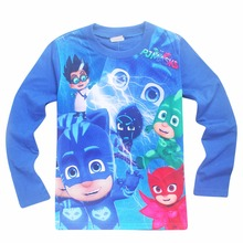 novelty fashion t shirts girls clothes long sleeve t shirt cartoon pj masks casual cotton o neck t-shirts kids long sleeve