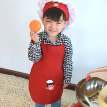Free Shipping Brand New Kids Cook Apron Dora Costume Painting Apron Chef Hat and Apron set