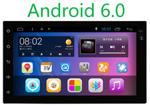 Android 6.0 Car Stereo Navigation Double Din GPS Radio Audio In Dash Bluetooth(China)