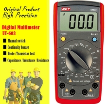 UNIT UT603 multimeter , professional measuring resistance / inductor / capacitor / diode / transistor / Continuity Buzzer.(China)