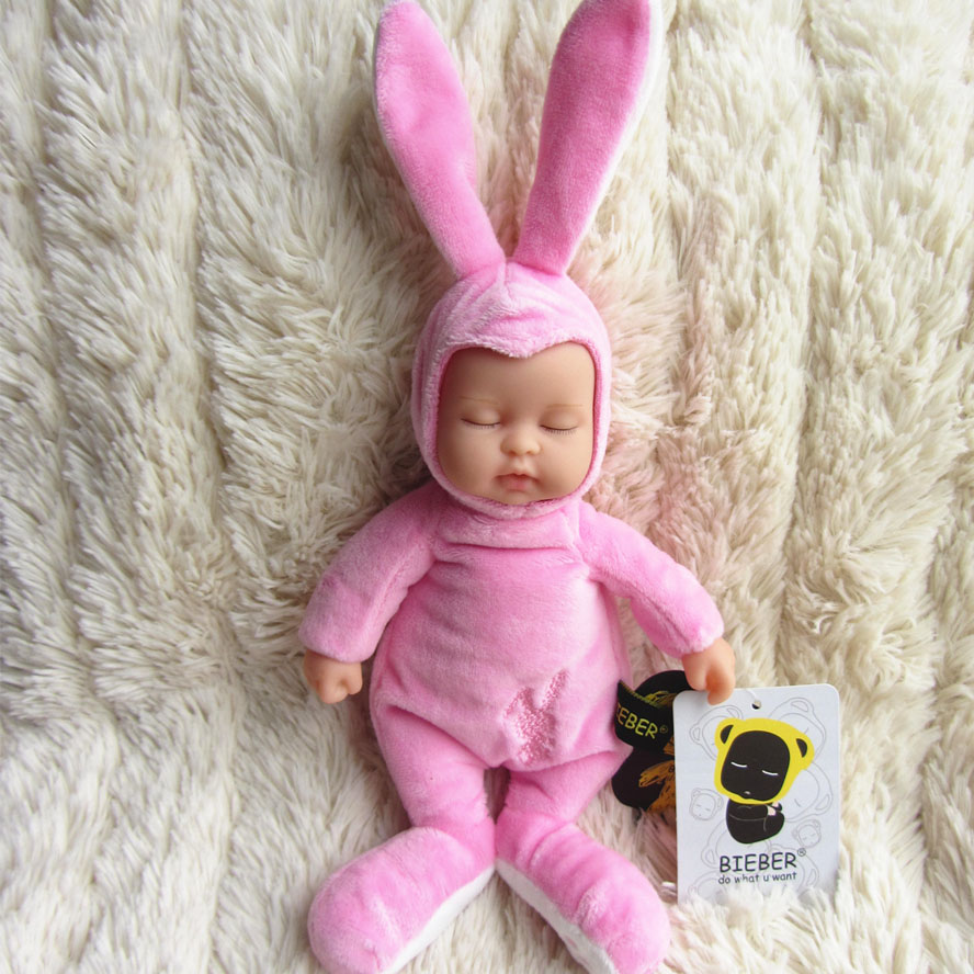 Wholesale Doll vinyl bieber doll reborn baby pink rabbit baby  Toy For Girls  BE002<br><br>Aliexpress