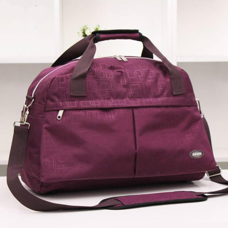 Women Black Purple Leisure Sports Bag Gym Fitness Portable Shoulder Bag Waterproof Outdoor Travel Luggage Bag Men HAB098<br><br>Aliexpress