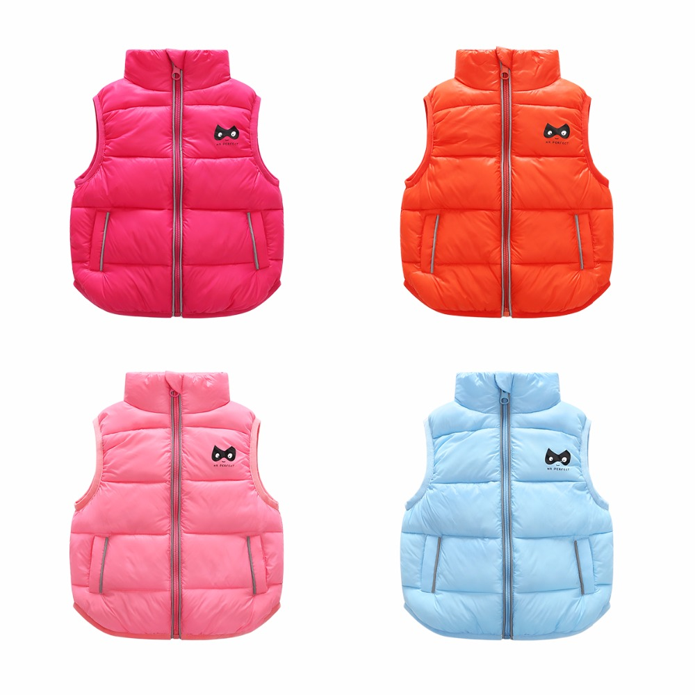 2 Bibihou 2017 Winter Kids Waistcoats children clothes Vest Warm Coat Infant sleeveless Jacket Cotton Kid Clothe Boy Girl Outwear