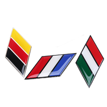New Hot Car Styling Emblem Diamond Sticker Glue Decal Ensign German/French/Italy Flag Decoration Sticker Car Accessories