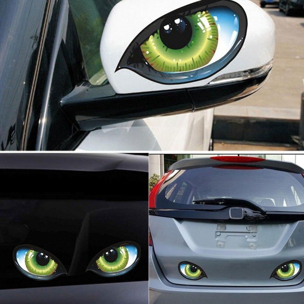 3D Eyes Car Mirror Stickers Truck Window Decal Reflective Sticker Decals BICA