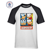 2017 New Fashion Funny Donald Duck Cotton t shirt for men