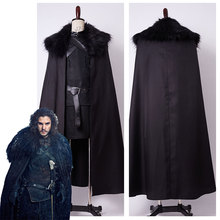 2016 High Quality GoT Game of Thrones Jon Snow Night's Watch Outfit Full Set Halloween Party Cosplay Costume For Adult Men Women