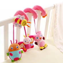 New Arrival Cute Animal Baby Plush Stuffed Rattles Bed Toy Newborn Crib Hangings Toys safety seat plush toy 11-172