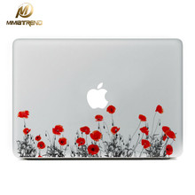 Mimiatrend Red Flower Pattern For Macbook Sticker Vinyl Decal Laptop Stickers for Apple Macbook Air Pro Rtina 13.3 15.4 inch