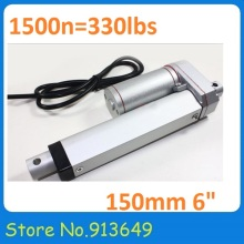 Electric Linear Actuator 12v 150mm(6') Stroke 1500N DC Motor Linear Motion Controller with Limit Switch-1PC