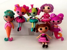 6 pcs/lot Original 7cm MGA Lalaloopsy Dolls Mini  lovely Mermaid Dolls  For Girl's Toy gift