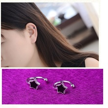 2017 Crystal Silver Plated Big Small Star Ear Cuff Clip Earings For Women High Quality Fashion Jewelry