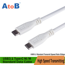 AtoB USB3.1 Type-C cavo di  USB-C to C Cable for mate book macbook charger for Samsung HTC  Lenvo Huawei Xiaomi Nexus LumiaMexzu