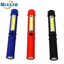 zk54 COB LED Mini Pen Multifunction led Torch light cob Handle work flashlight cob square Work Hand Torch Flashlight With Magnet(China)