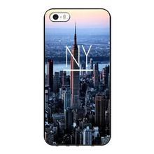 New York City Travel Black Back Personalized Skin Tpu Nero cell phone bags case cover for iphone 4S 5S 5C SE 6S 7 PLUS IPOD 4 5