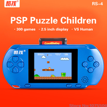 "RS-4 Handheld Game Players 2.5"" Video Game console for kids 300 Classical Game With External handle Controller(China)"