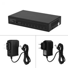 EU / US Plug 8 Ports 10/100/1000Mbps Adaptive Gigabit Ethernet LAN RJ45 Duplex Mode Network Switch Switcher(China)