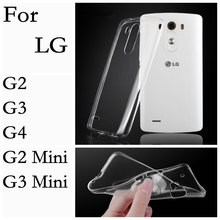 For LG G2 G3 G4 G5 G2 Mini G3 Mini G4s Beat V10 Transparent Clear Soft TPU Gel Case Slim Crystal Cover 2016 NEW