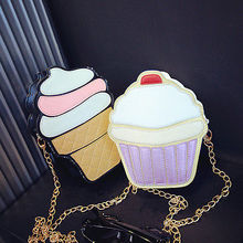 NEW Cute Fashion Lady Kids Girls Ice Crean Cupcake Cartoon Messenger Bags Shoulder Bag Hobo Purse Handbag(China)