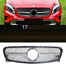 Grille automobile upgraded car styling bright sequins sticker strip protecter covers accessory 17 FOR Mercedes Benz GLA(China)
