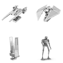 SAINTGI star wars Etching bb8 Trek Space ship 3D metal model Enterprise NCC1701 action figure DIY collection model kids toys