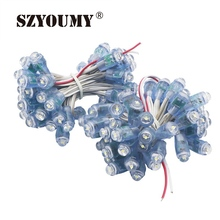 SZYOUMY 12mm Full Color Pixel LED Module Light Outdoor Waterproof IP68 5V Advertisement Design LED Pixel Light(China)